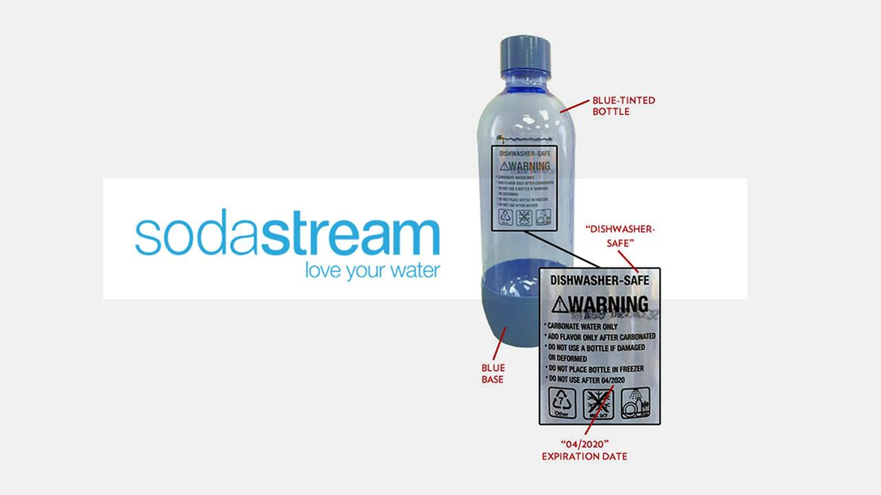 SodaStream recalls bottles for explosion risk