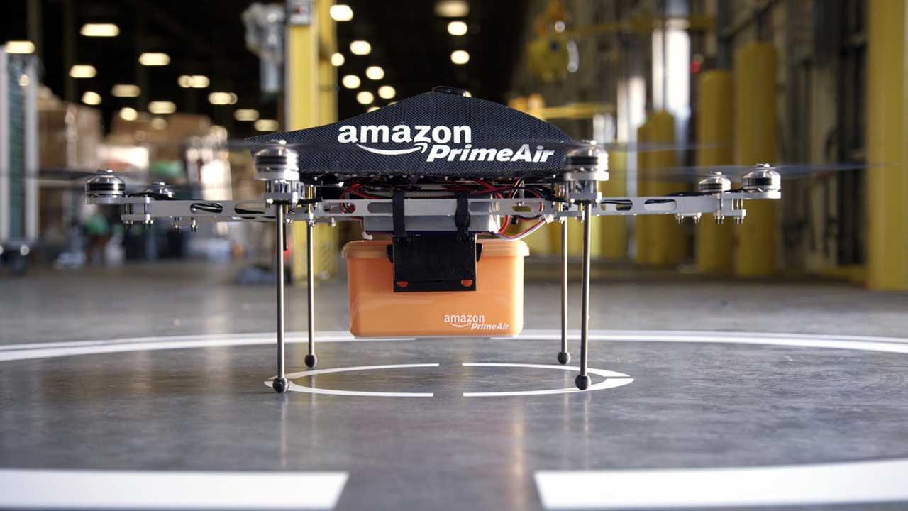 (FILE) The Prime Air unmanned aircraft project that Amazon is working on in its research and development labs.