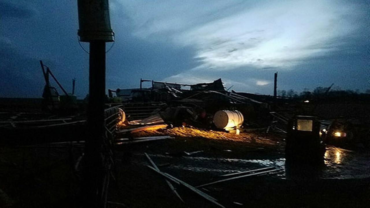 Storm damage in Oregon, Ill.Courtesy of Kim Hutcherson