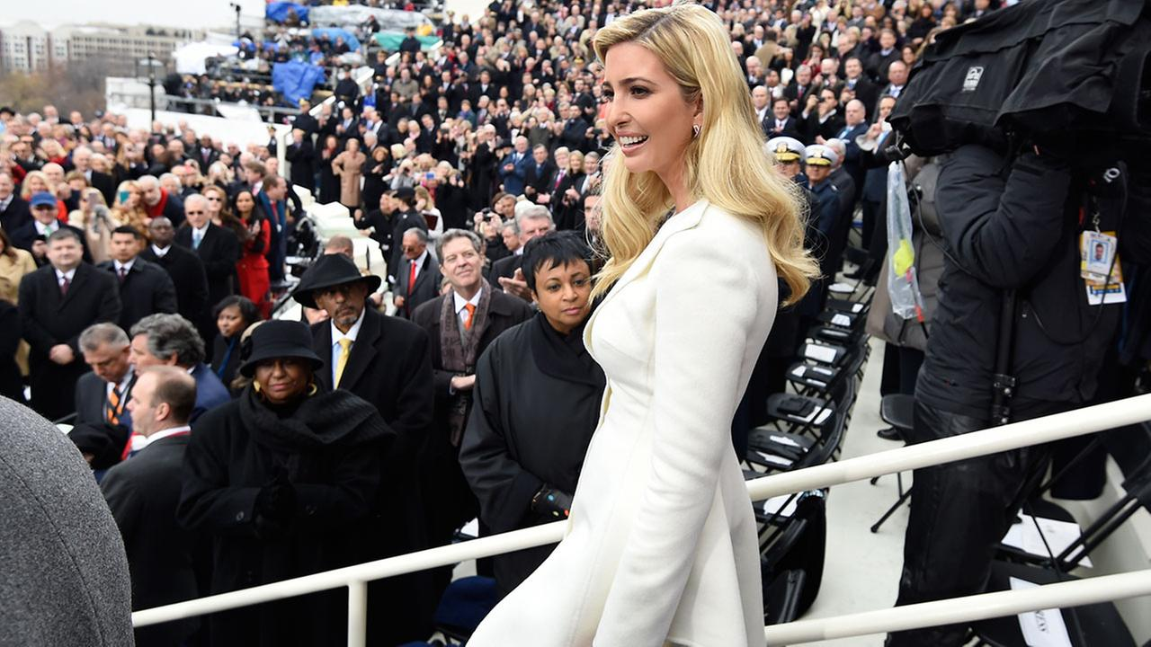 Ivanka Trump arrives on Capitol Hill in Washington, Friday, Jan. 20, 2017, for the presidential inauguration of her father Donald Trump.