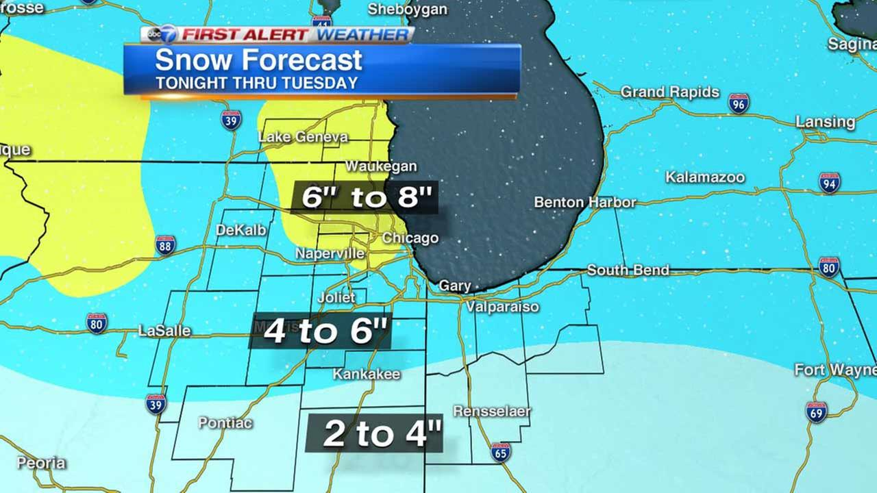 Lake Effect Snow Warning Continues For Chicago Area, Northwest Indiana