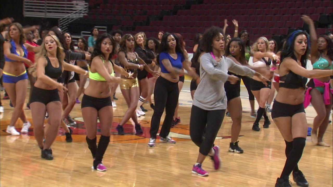 The Luvabulls held open auditions for their 2014-15 Chicago Bulls dance team Saturday at the United Center.