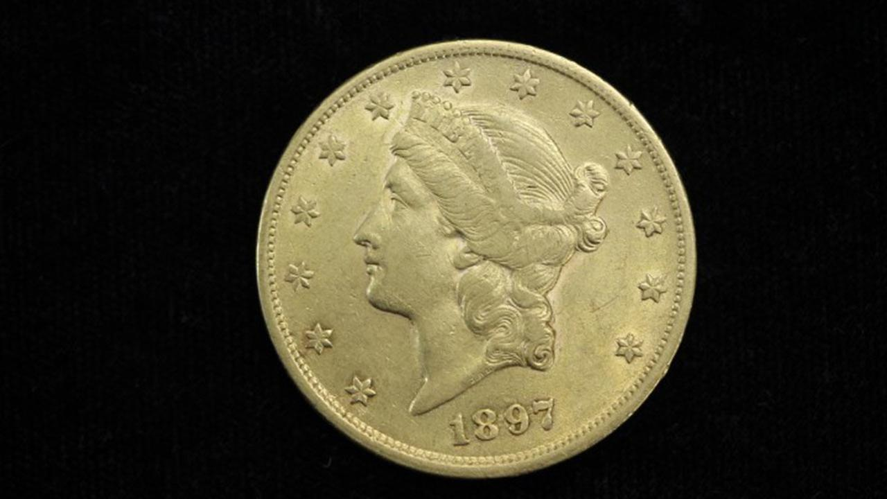 A twenty dollar Liberty Gold Piece up for auction.