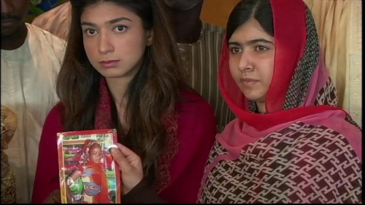 Malala Yousafzai, a Pakistan teen who was shot by militants, met with the relatives of the Nigerian schoolgirls kidnapped by Boko Haram.