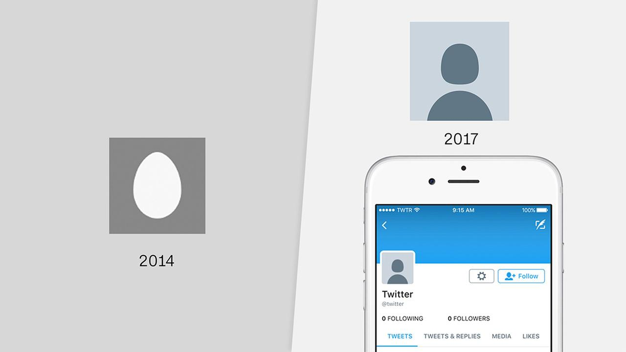 Twitter is ditching the iconic egg avatar that appears as a default profile picture in favor of a more generic image of a dark gray disembodied head on a light gray background.