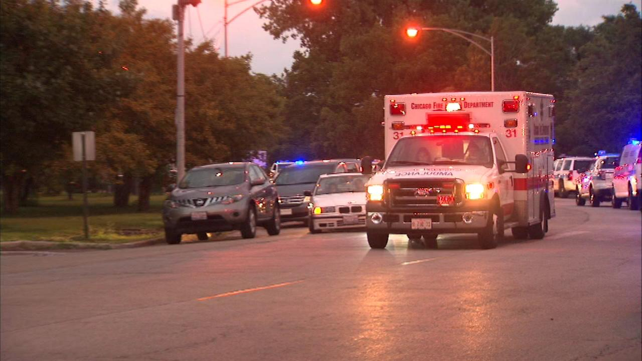 A Chicago Police officer is sent to the hospital after getting hit with a bottle during an altercation in the 4400 block of Simonds near Montrose Beach.