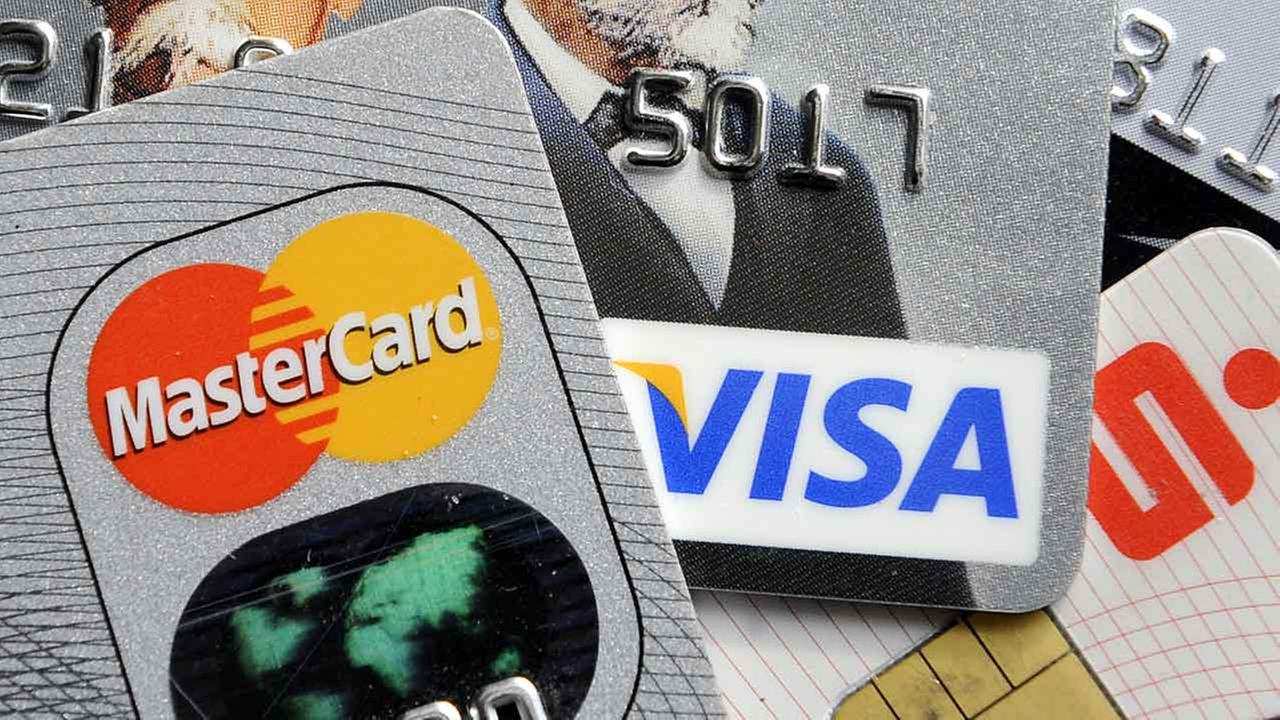(FILE) Credit and bank cards.