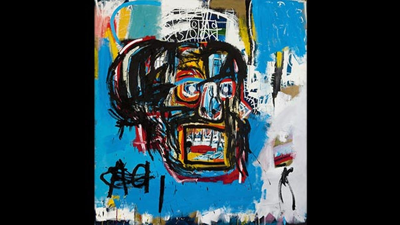 This undated photo provided by Sothebys shows Jean-Michel Basquiats Masterpiece Untitled.