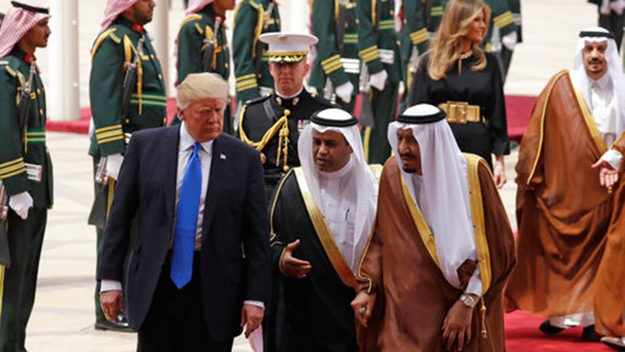 President Donald Trump in Saudi Arabia