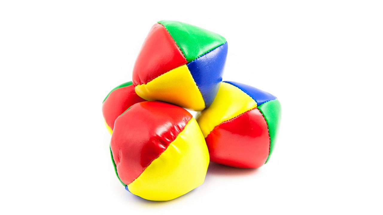 Juggling balls.