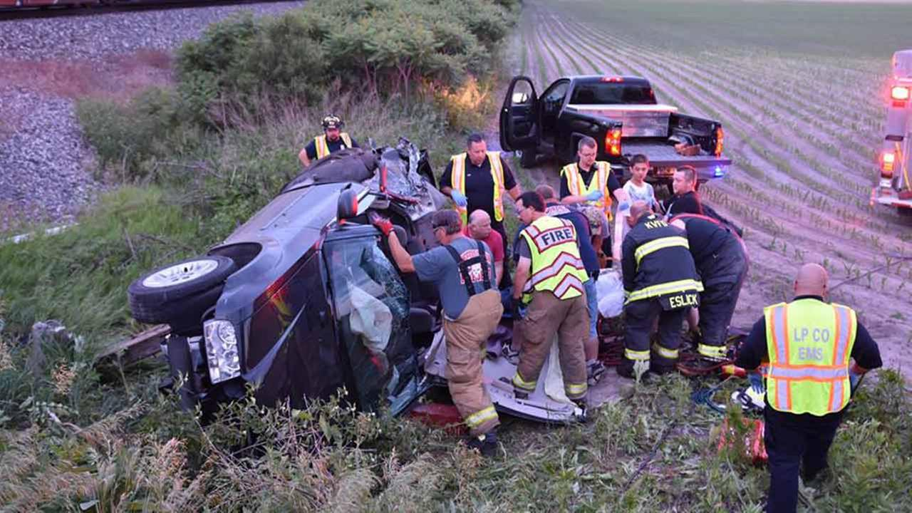 Car hit by train LaPorte County