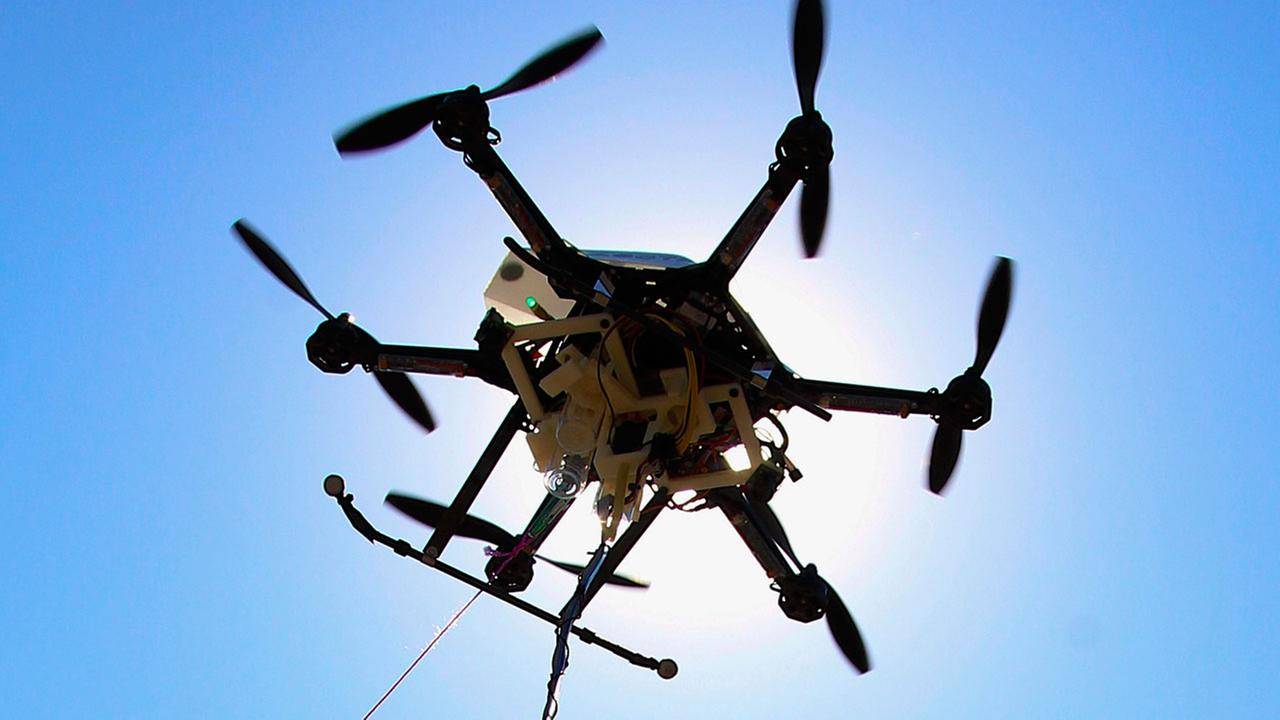 Sept. 6, 2013 file photo of a drone at a testing site in Lincoln, Neb.