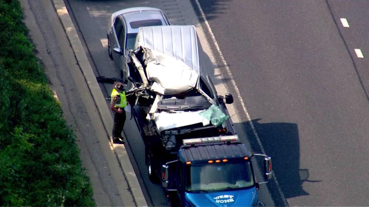 A pair of crashes is slowing afternoon traffic in the southbound lanes of I-355 near 71st Street in west suburban Woodridge.