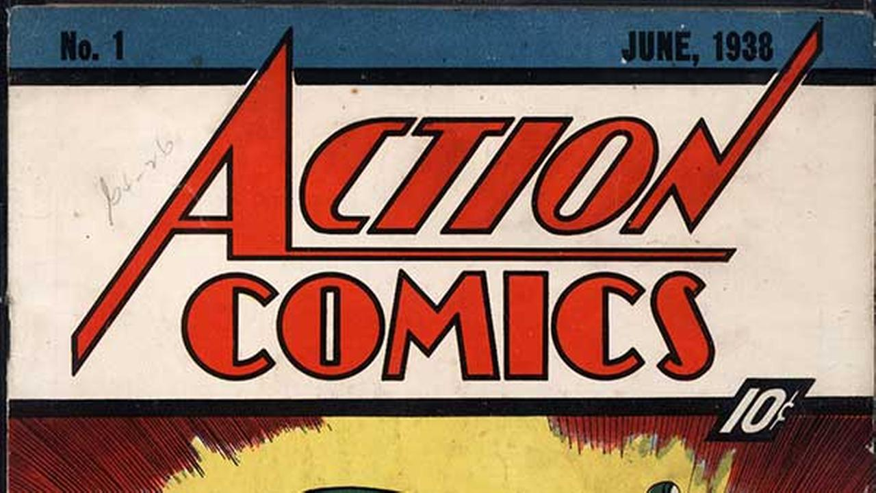 In this file photo released by Metropolis Collectibles on Feb. 27, 2009 in New York, the June 1938 cover of Action Comics is shown.