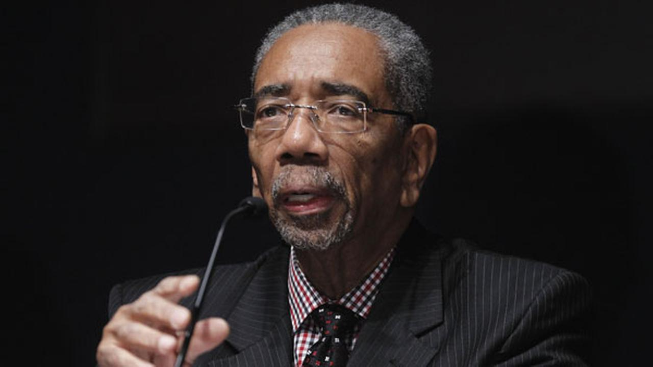 (FILE) Rep. Bobby Rush, D-Ill., takes part in a congressional round-table on college sports on Capitol Hill in Washington in 2011.