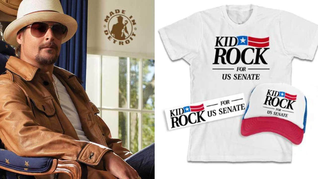 Kid Rock tweets tease for US Senate run in Michigan