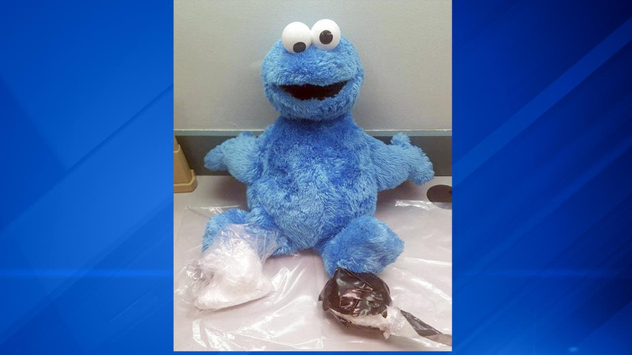Cookie Monster drug doll