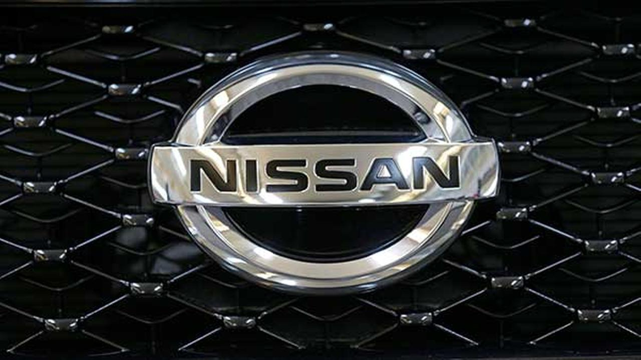 This photo taken on Feb. 14, 2013, shows the Nissan logo on the grill of a 2013 Nissan Pathfinder at the 2013 Pittsburgh Auto Show.