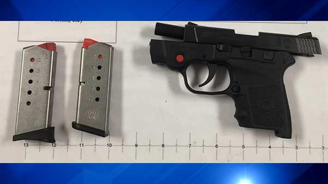A .380 caliber Smith and Wesson firearm was found in a passengers carry-on bag Thursday morning at Midway.