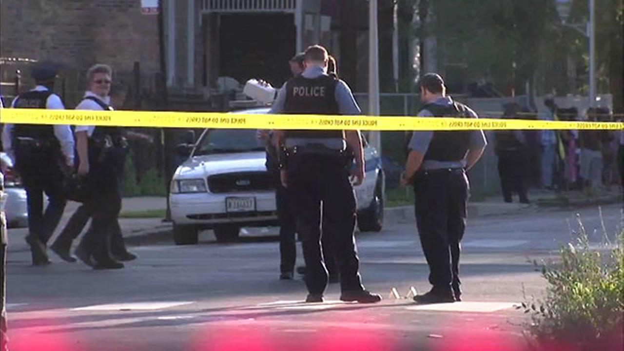 Chicago Police investigate a shooting on the West Side over the weekend.