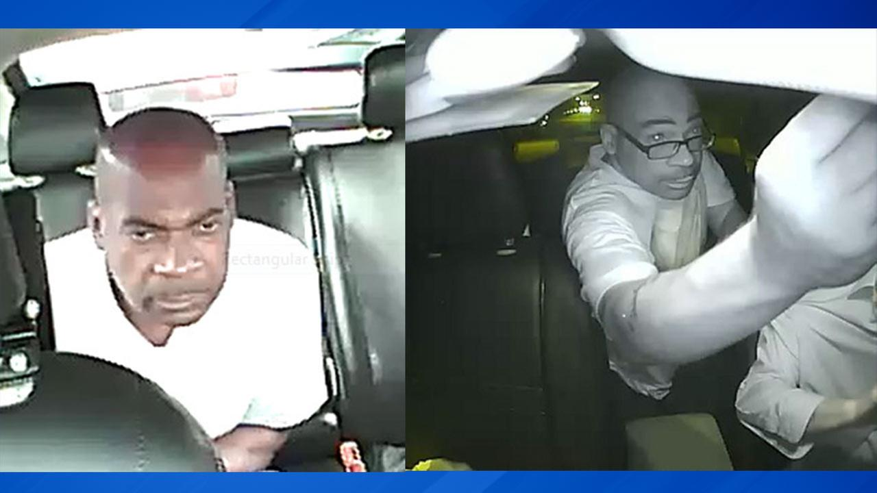 Surveillance images of a suspect wanted in connection with the robberies of cab drivers on the West Side.