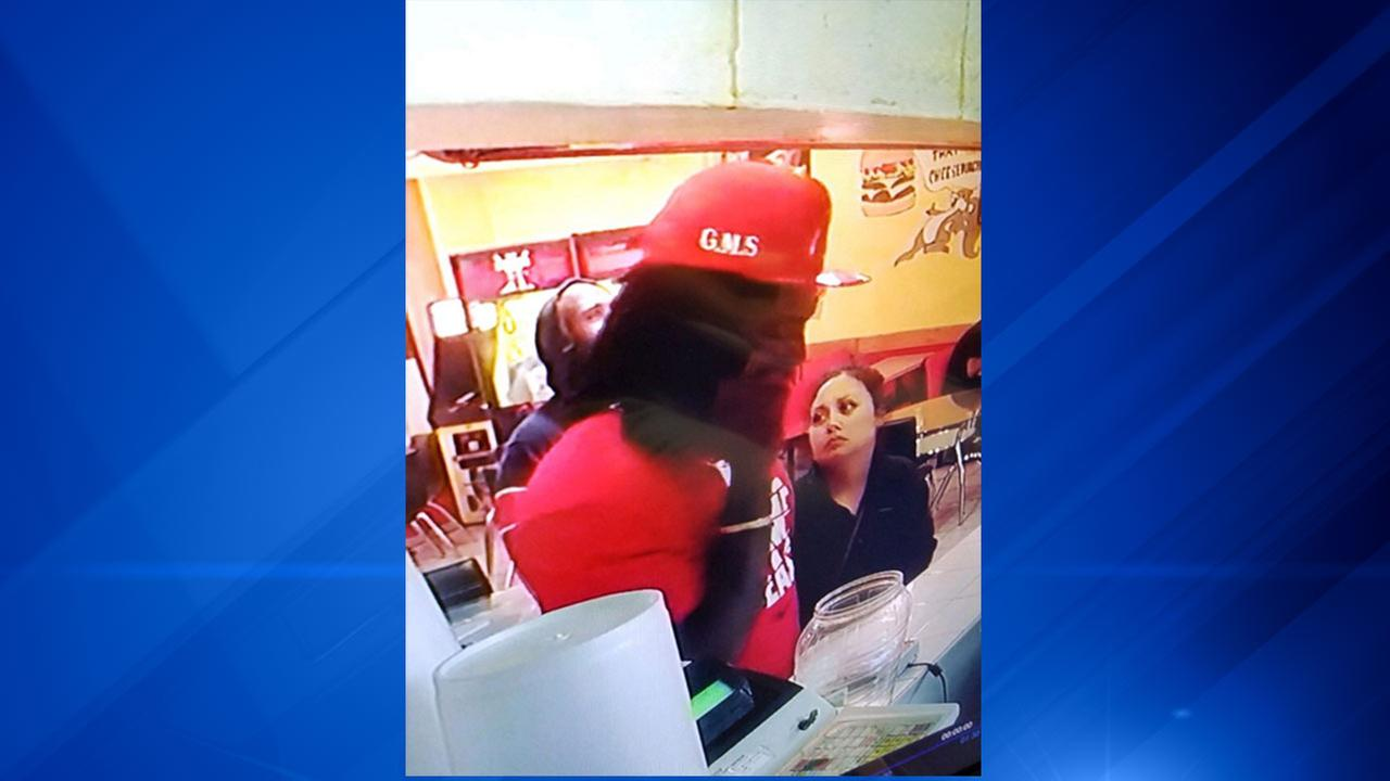 Surveillance image of two people sought by Gary police in connection with a fatal shooting.