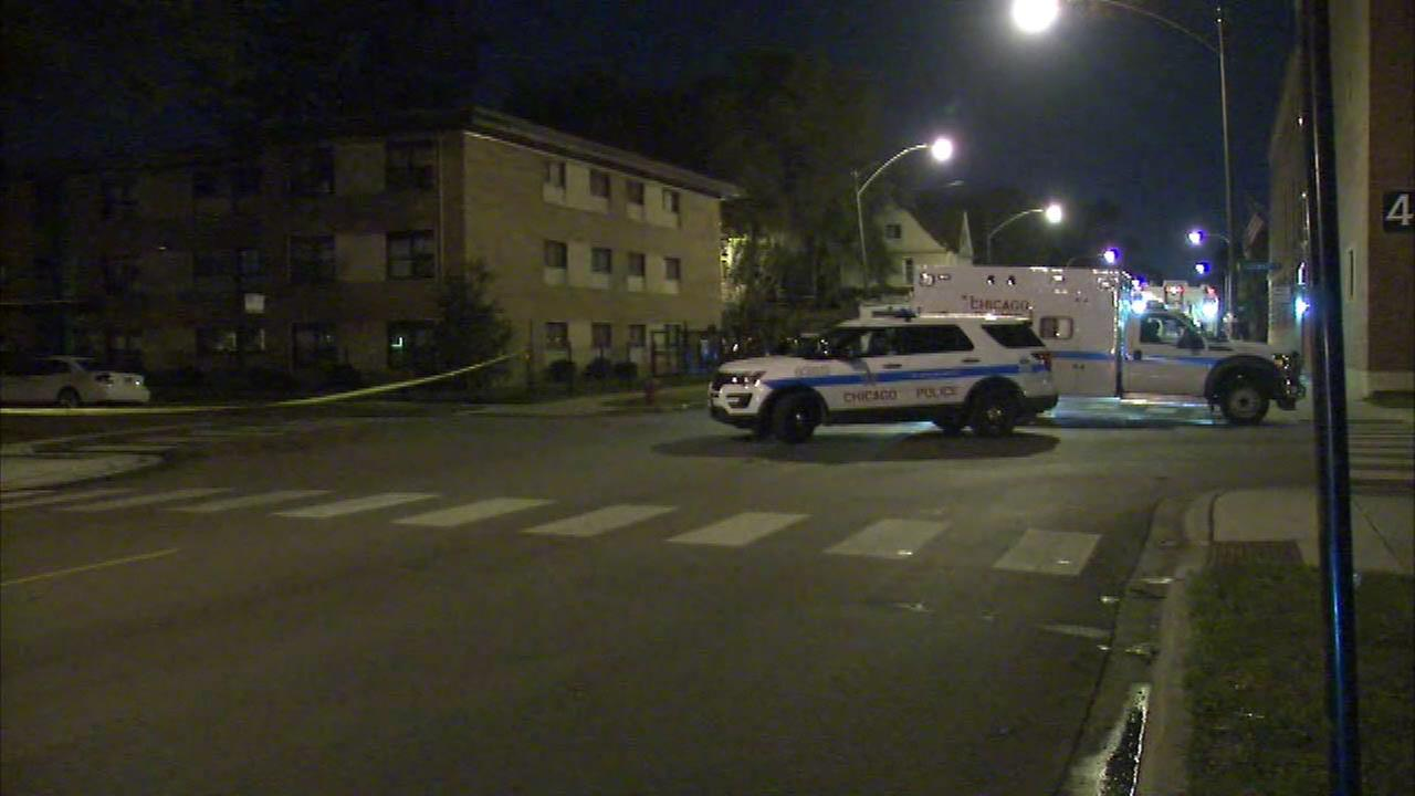 Chicago police respond to a barricade situation in the 7600-block of South Stewart Avenue Monday.