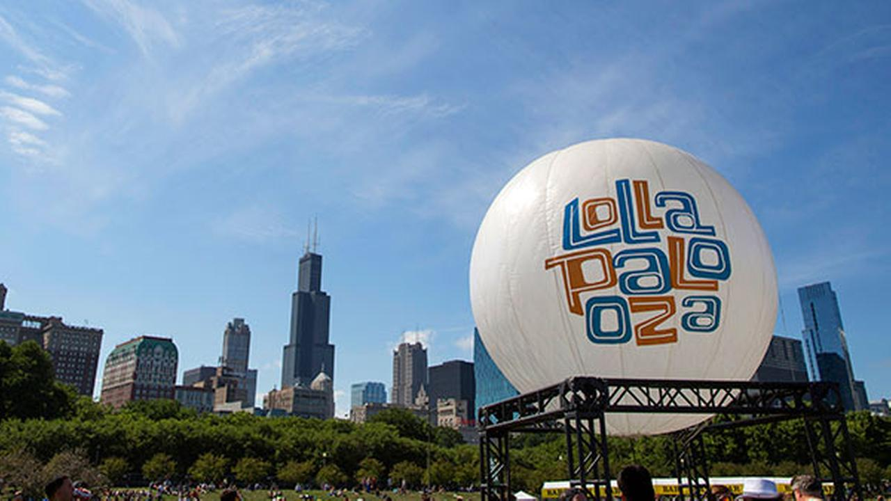 This Aug. 4, 2013 file photo shows a Lollapalooza balloon at the Lollapalooza Festival in Grant Park in Chicago.