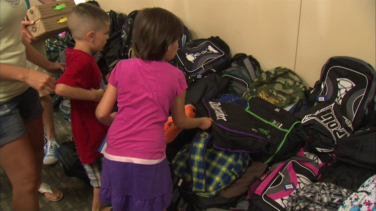 Some local military children received free backpacks and school supplies Friday night thanks to Operation Homefronts central Midwest office.
