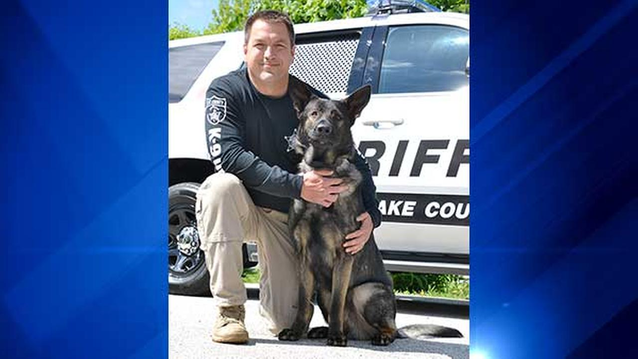 Lake County Sheriffs Deputy John Forlenza and K-9 Dax