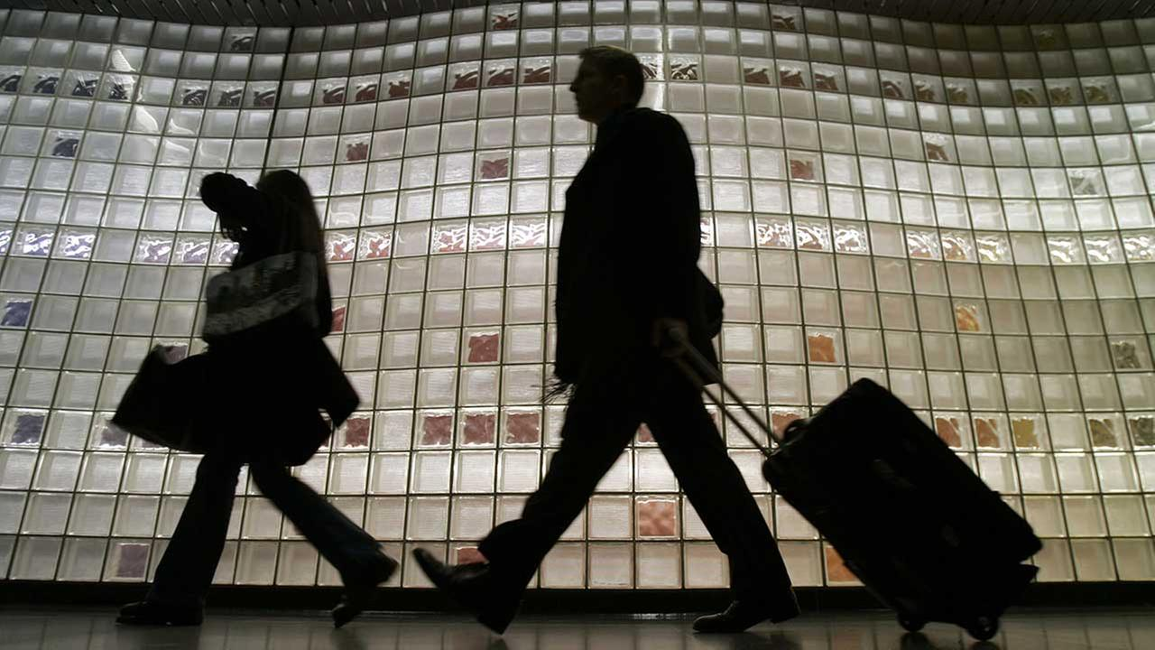Travelers at OHare International Airport in Chicago. (FILE)