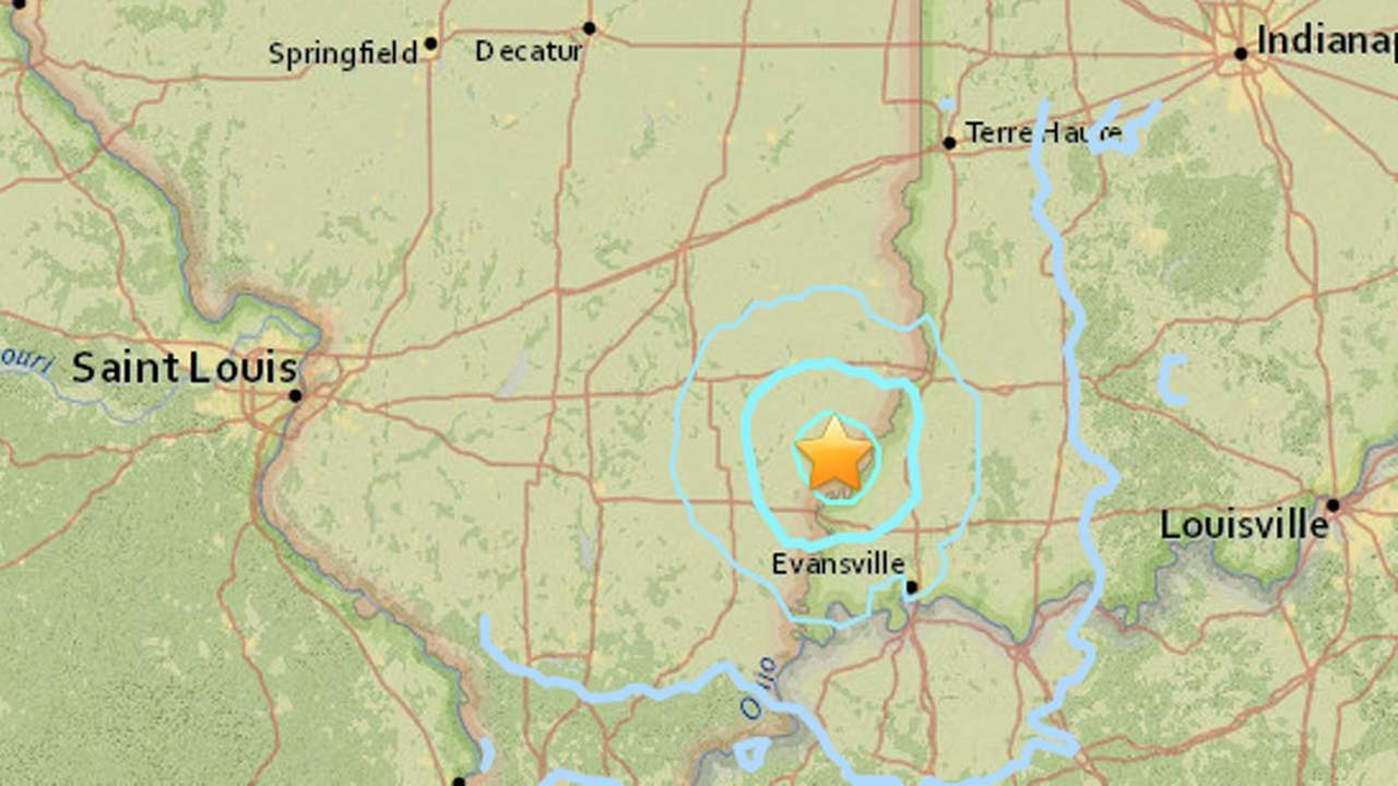 A magnitude 3.8 earthquake struck near the town of Albion, Ill. Tuesday morning.