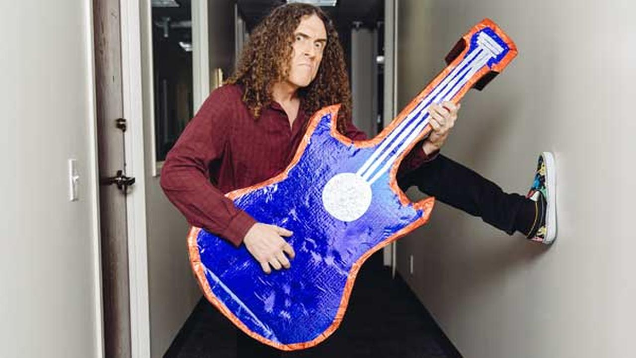Weird Al Yankovic poses for a portrait during an interview on July 17, 2014, in Los Angeles.