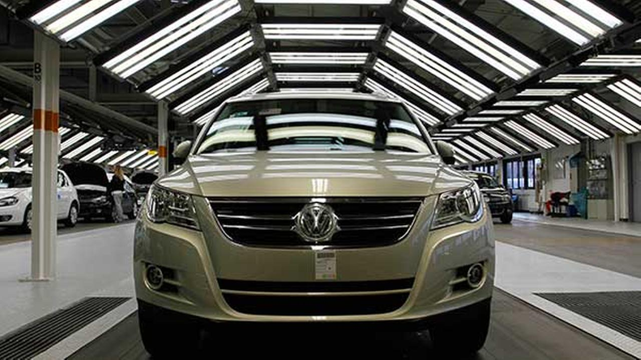 FILE: A Volkswagen Tiguan is seen at quality control portion of the production line in the Volkswagen plant in Wolfsburg, Germany, Thursday, Feb. 24, 2011.