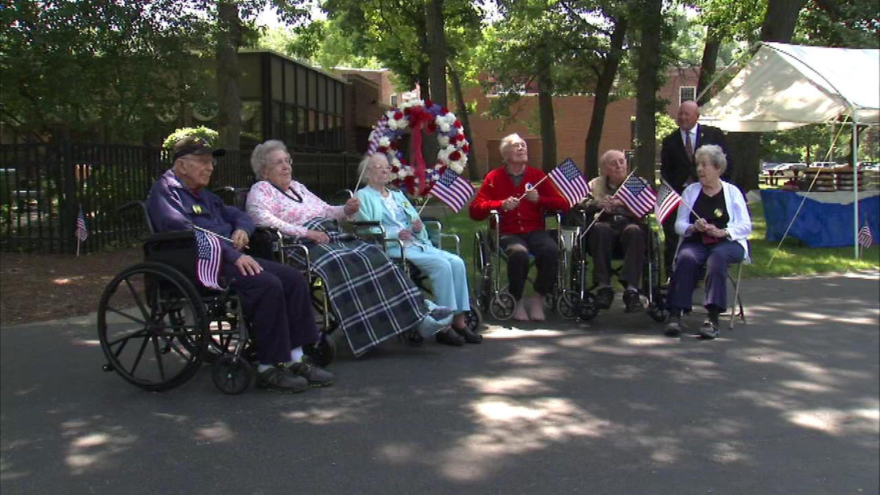 World War II veterans were honored Saturday at a celebration in the north suburbs.