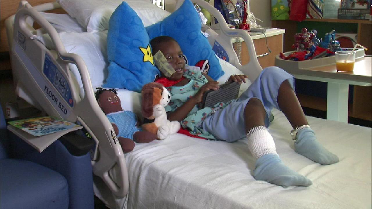 A 6-year-old boy recovering from a pit bull attack is talking about what happened.