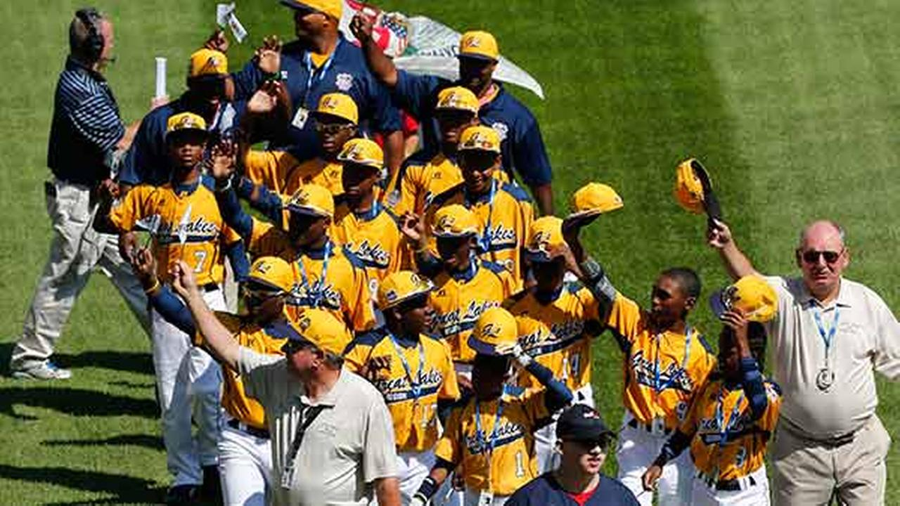 The Jackie Robinson West Little League baseball team from Chicago participates in the opening ceremony of the 2014 Little League World Series tournament in South Williamsport, Pa.Gene J. Puskar