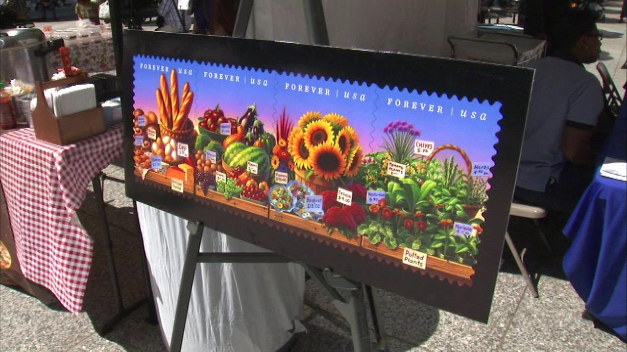 A new stamp celebrating farmers markets was unveiled Thursday.