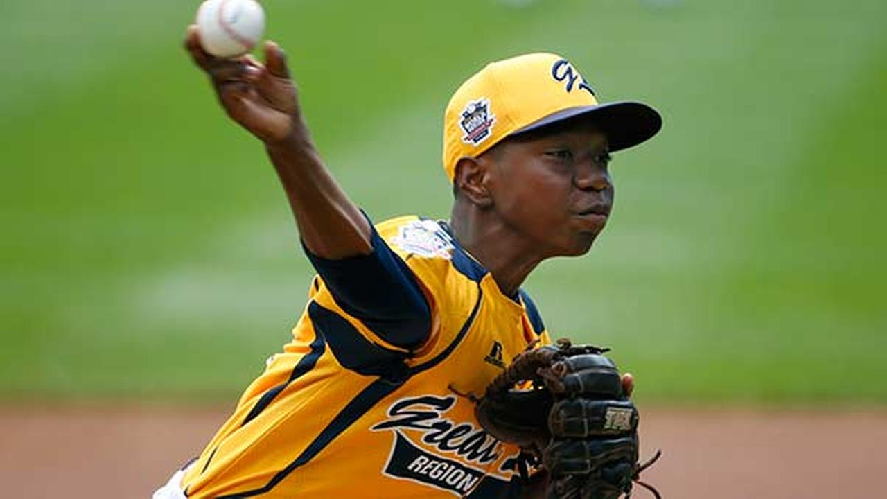 Chicago pitcher Brandon Green delivers during the first inning of a baseball game against Las Vegas at the Little League World Series tournament in South Williamsport, Pa.Gene J. Puskar