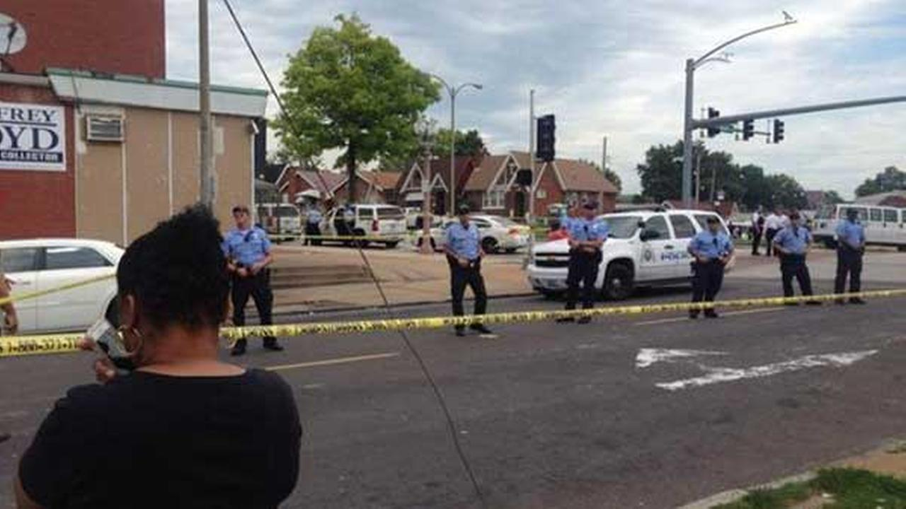 Scene of police shooting in St. Louis, Mo. (Photo: ABC News)