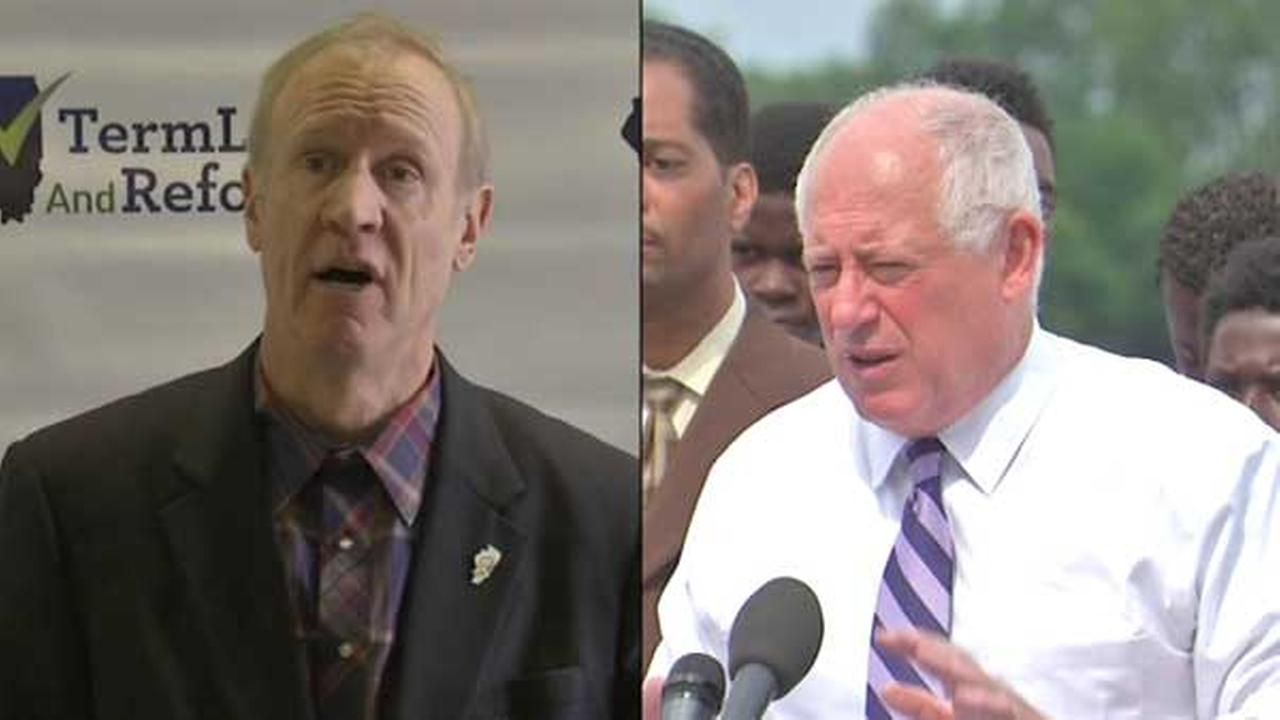 Illinois gubernatorial candidates Bruce Rauner and Governor Pat Quinn.