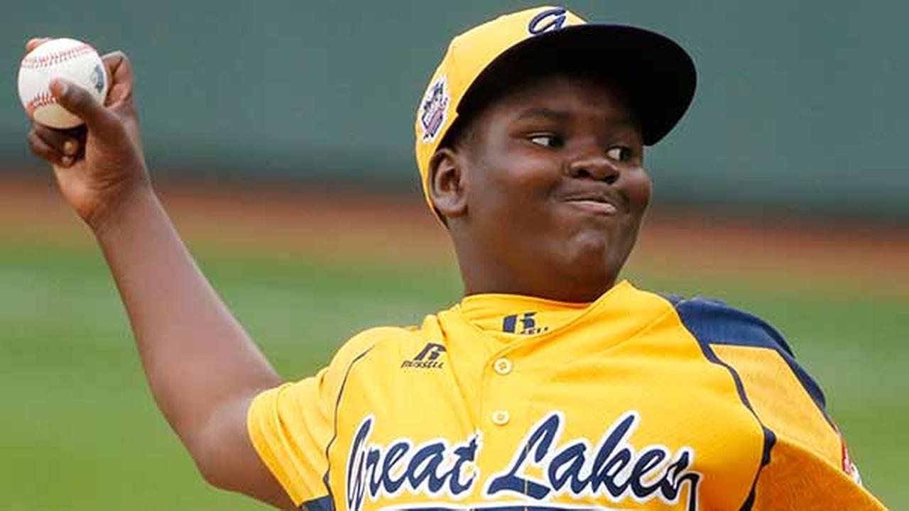 Chicagos Joshua Houston delivers in the first inning of a United States Championship game against Las Vegas at the Little League World Series.Gene J. Puskar