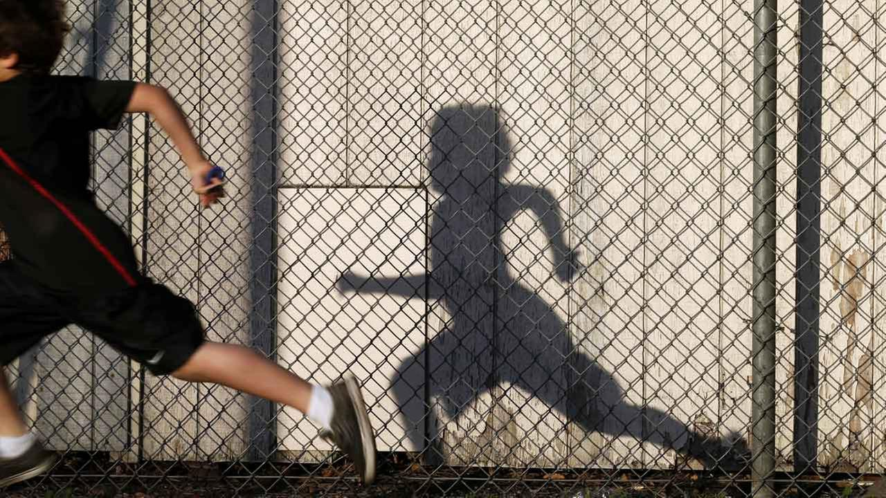 (FILE) A child on a playground in Chula Vista, Calif.