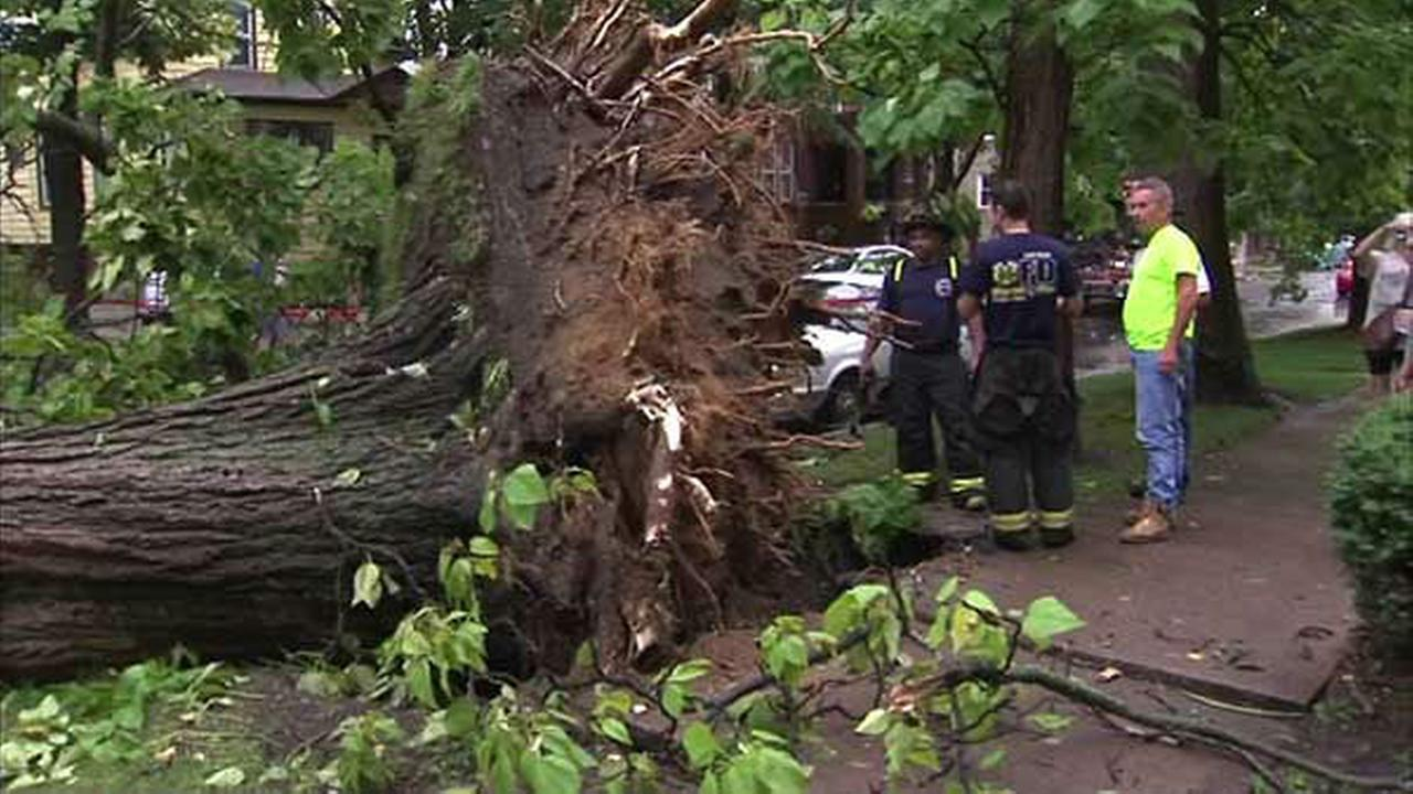 Severe thunderstorms cause power outages, damage