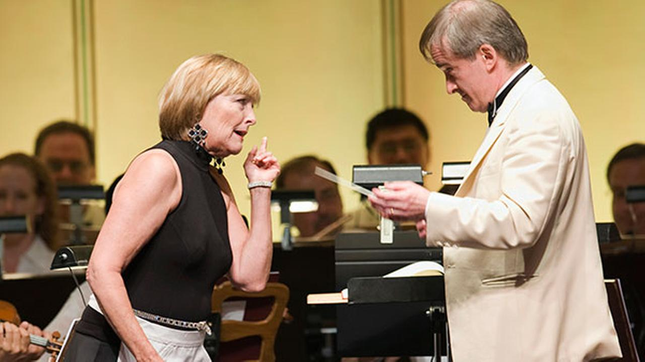 FILE: In this Aug. 5 2010 photo, Frederica von Stade (L) and James Conlon (R) are seen in Mozarts Cosi fan tutte at Ravinia. Conlon is stepping down as musical director in 2015.