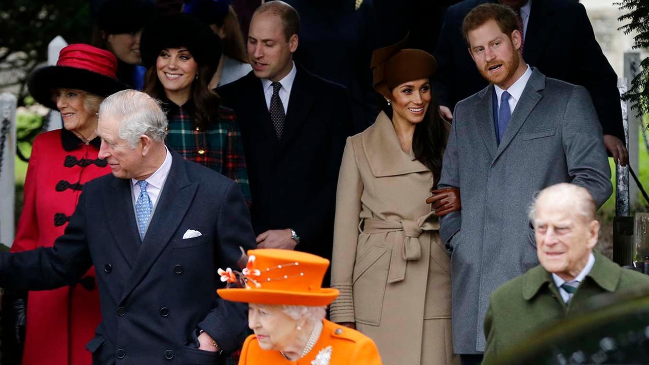 Meghan Markle joins British royal family celebrating Christmas