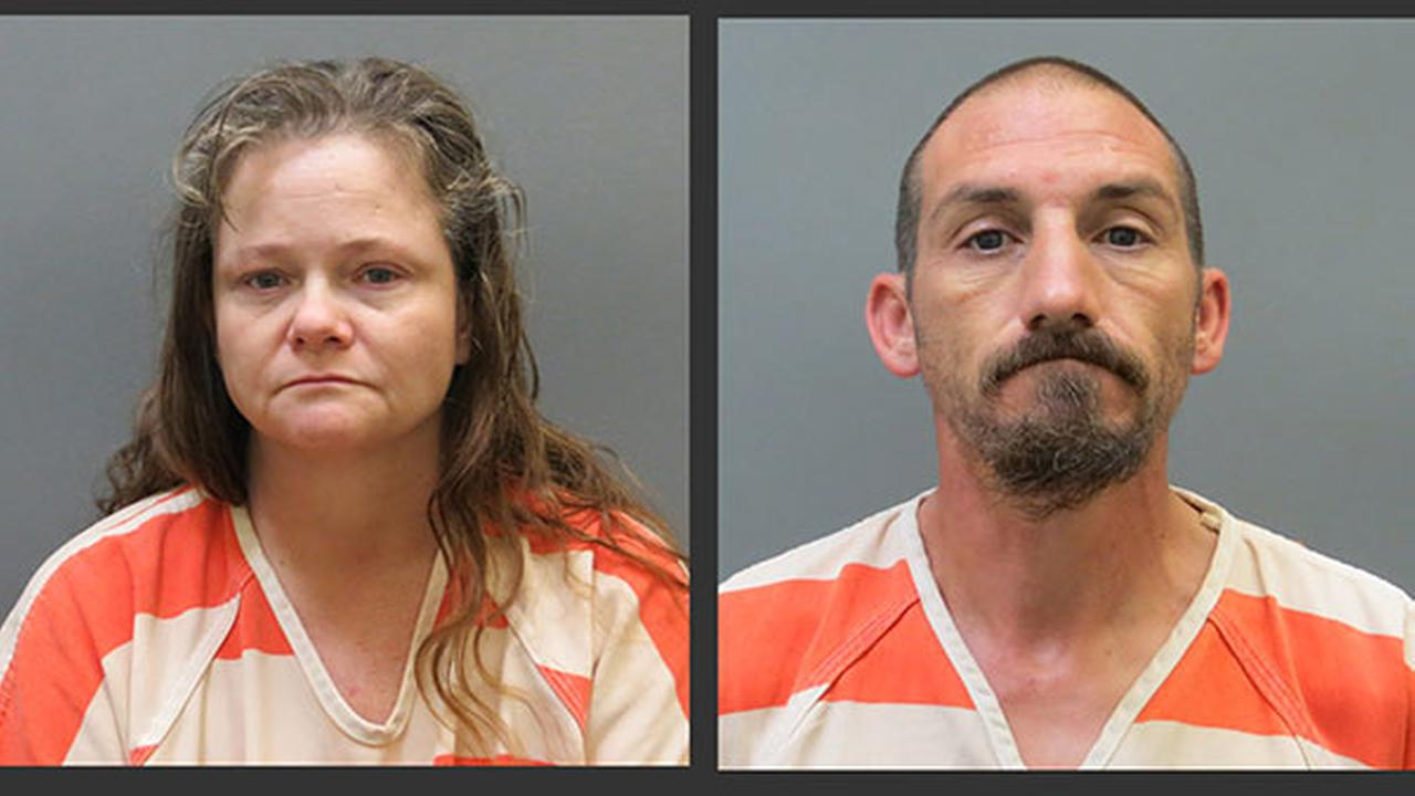 Kendra Tooley, left, and Ricky Roy House Jr., are shown in undated photos provided by the Posey County, Ind. Jail. They face preliminary charges of rape and criminal confinement.