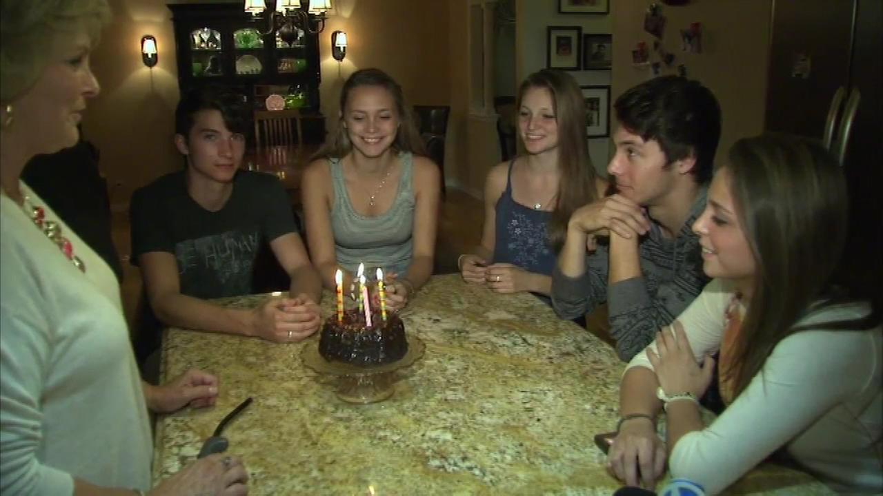 The Collins family celebrated the 18th birthdays of quintuplets Padraic, Grace, Aidan, Elizabeth and Clare.