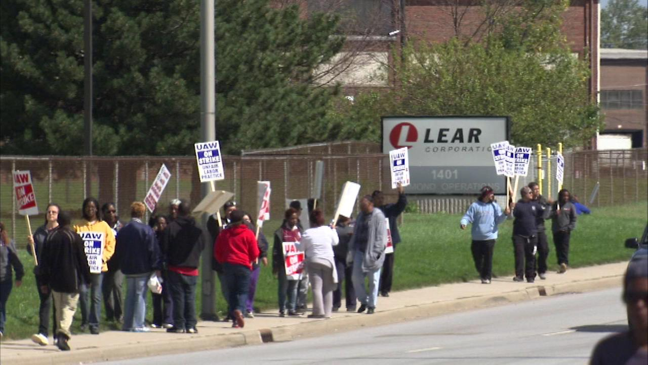 Hundreds of workers walked off the job Saturday at a northwest Indiana factory that now could affect the Ford assembly plant in Chicago.