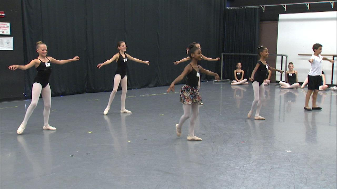 The Joffrey Ballet held auditions Sunday for The Nutcracker and hundreds of young dancers between 4-and-5 feet tall tried out for childrens roles.